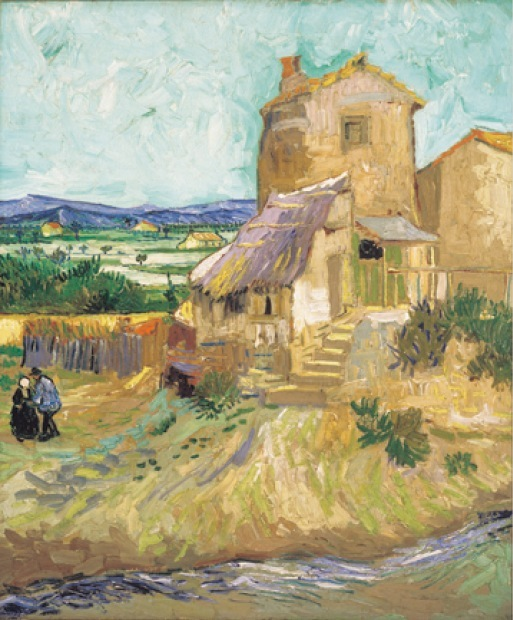 Vincent van Gogh  《La Maison de la Crau (The Old Mill)》  1888年. Collection of Albright-Knox Art Gallery, Buffalo, NY.